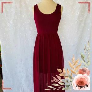 Forever21 Burgundy Red Dress S